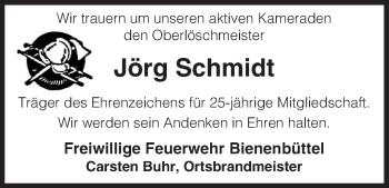 Traueranzeige von Jörg Schmidt von Uelzen