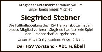 Traueranzeige für Siegfried Stebner vom 16.01.2019 aus Uelzen