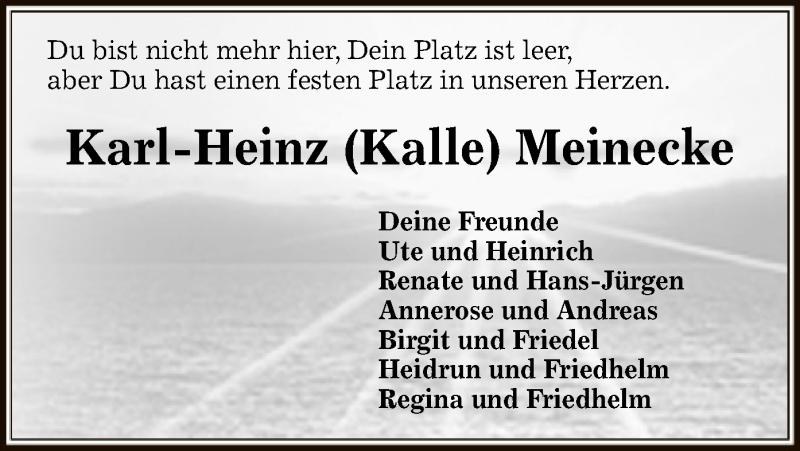 Traueranzeige für Karl-Heinz Meinecke vom 08.06.2019 aus Uelzen