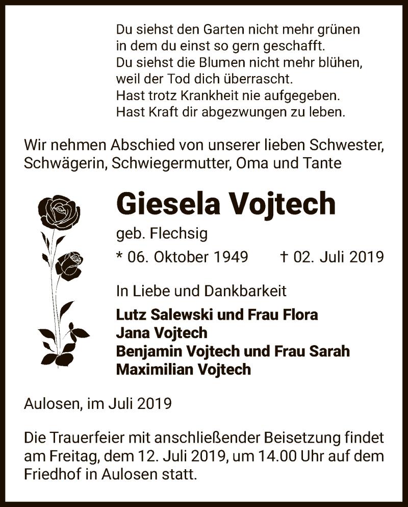 Traueranzeige für Giesel Vojtech vom 06.07.2019 aus Uelzen