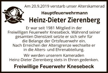 Traueranzeige von Heinz-Dieter Zierenberg von Uelzen
