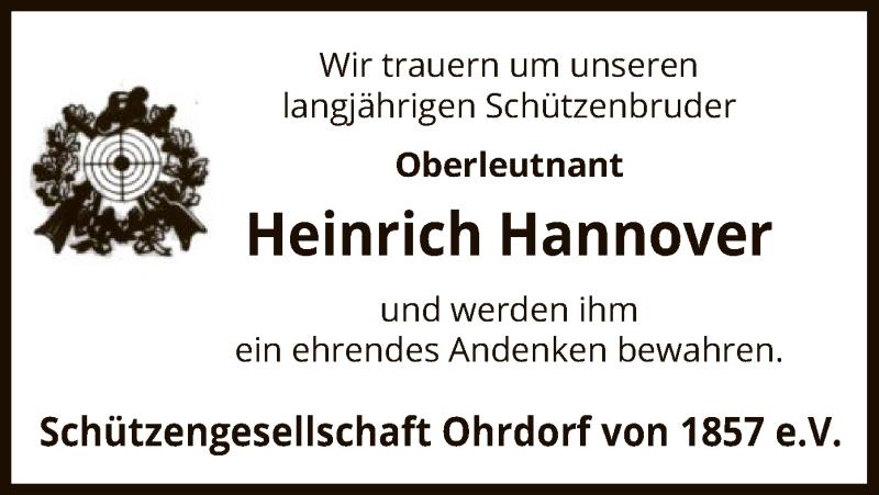 Traueranzeige Hannover
