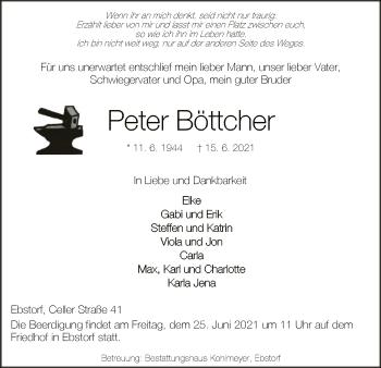 Traueranzeige von Peter Böttcher von UEL