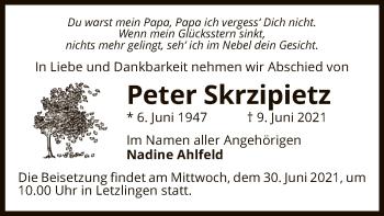 Traueranzeige von Peter Skrzipietz von UEL